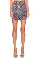 Mini Regular Size Geometric Above Knee Skirts for Women