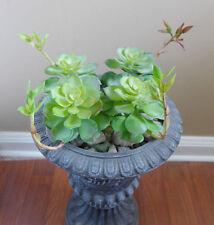 4 Pcs Burgeon snow lotus Plastic Artificial Grass Succulents Plants Lands