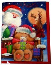 Una tarjeta de Navidad-para un Especial Auntie-Santa & Bear (Talla F)