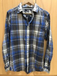The North Face Button Down Shirt Sz S Blue Checks Cotton *PERFECT CONDITION!!*