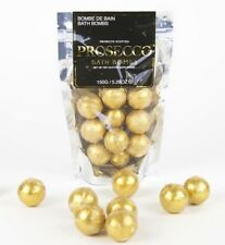 PROSECCO BATH BOMBS Set of 10 GOLD Glitter Scented