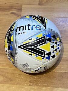 Mitre Delta Max Football Size 5 White - ** Brand New **
