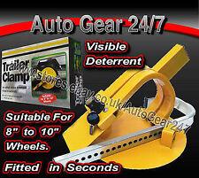 "Caravan Boat Trailer Security 8"" - 10"" Full Face Tyre Wheel Clamp Lock - SWWL4"