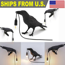 Resin Bird Table Lamps Crow Desk Lamp Bedroom Wall Sconce...