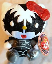 TY HELLO KITTY - KISS - DEMON  BEANIE BABY - NEW with MINT TAGS - Gene Simmons
