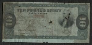 SNUFF Taxpaid revenue stamp Springer TE173A plate number