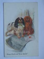 VIVIAN MANSELL PRINCE CHARLIE RUBY SPANIEL cane dog vintage post card