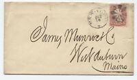 1860s New York fancy cancel Valentine's Day #65 cover [y2514]