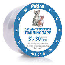 """3""""x30Yd Cat Scratch Protector Prevention Tape for Furniture Couch Door Carpet"""
