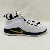 Nike Lebron Witness Finals 852439-102 White Gold Basketball Shoe Men's Size 12