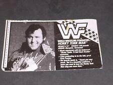 WWF WWE HASBRO HONKY TONK MAN BIO CARD cut out for Wrestling Action Figure