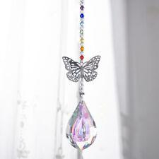 Handmade Crystal Drop Prism Butterfly Decor Ornament Suncatcher Pendant Gifts