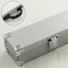 2pc Silver Cue Case With Reinforced Corners Various Extension for Snooker Pool