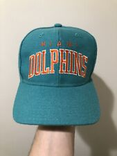 8b0c2ea5f81 Vintage Starter Miami Dolphins 100% Wool Snapback Hat Cap Rare NFL Football