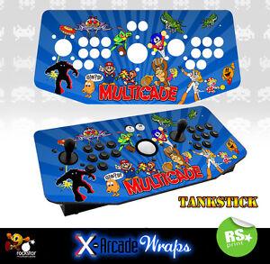 Multi Game v2  X Arcade Artwork Tankstick Overlay Graphic Sticker