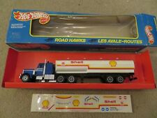 Hot Wheels Road Hawks  Shell Oil tanker Truck 1984 with Box See My Store