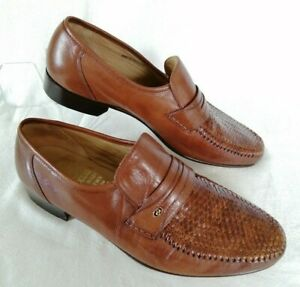 GRENSON Slip On Moccasin Shoes - Size UK 9 Mens Brown Tan - Made in England