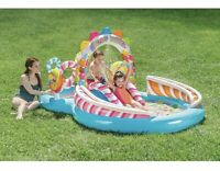 Intex Candy Zone Inflatable Play Center, Great fun for summer, waterslide & pool