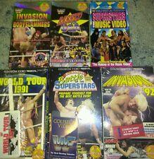 Lot of 6 WWF WWE VHS Coliseum Videos Factory Sealed A Hulk Hogan UltimateWarrior