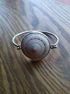 Charles Albert 950 Sterling Silver Snail Shell Bangle Bracelet