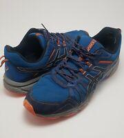 Mens Asics Gel Venture 7 Blue Orange Athletic Running Shoes Sneakers Size 14