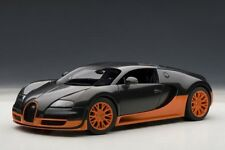 Bugatti Veyron 16.4 Super Sport Black / Orange Skirts AUTOart 1:18 70936