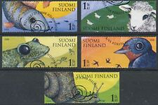 Finland 2008 Used Stamps (5) - Shallow Frog Snail Fish Sheep - First Day Cancel
