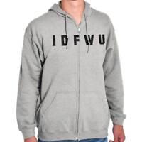 IDFWU Funny Hip Hop Rap Music Attitude Gift Zipper Sweat Shirt Zip Sweatshirt