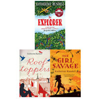 Katherine Rundell Collection 3 Books Set Explorer Girl Savage Rooftoppers NEW