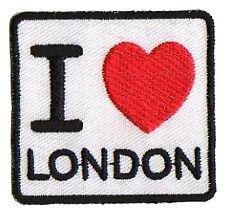 Patche écusson I love London Londres patch DIY brodé hotfix transfert