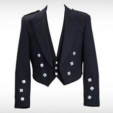 "Prince Charlie Kilt Jacket With Waistcoat/Vest -36-54"",R,S & L(Sleeve)"