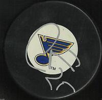 CHRIS STEWART SIGNED ST LOUIS BLUES HOCKEY PUCK AUTOGRAPH PROOF NHL J3