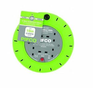 PIFCO 2,4 Way Extension Reel with 13A 230 - 240V Thermal Fuse and 5M 10M Cable
