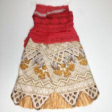 Disney Girls Moana Hawaiian Hula Costume Dress 4 5 6X