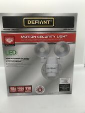 Defiant LED Motion Sensor Security Light 180 Degree Outdoor Flood Lights 2-Head