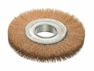 Round Brush D 150 X Hole 40 x 0,3 Bronze Wire, For Grinding Bench, Wire Brush