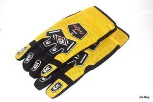 Gants Enduro / Motocross / Quad Jaune et Noir ULTRA MX - Taille 12 (XXL) - NEUF