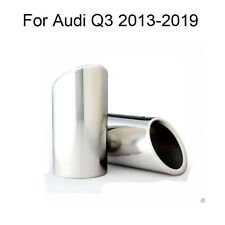 2 Car Chrome Exhaust Muffler Tail Pipe Tip Tailpipe For Audi Q3 2013-2019