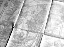 JUGENDSTIL MOTIV/SPRUCH LEINEN HANDTUCH FROHSINN ERHEITERE DEIN LEBEN 1900 PAAR