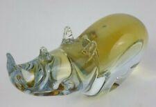 "Pier 1 | 8"" Glass Rhinoceros Figurine Statue"