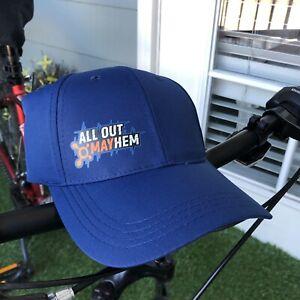 Orange Theory All Out Mayhem Blue Cap Baseball Hat NEW