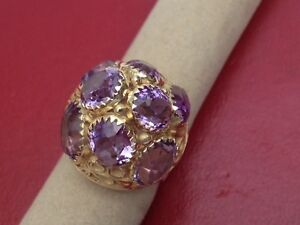 Ladies Amethyst and 14k Yellow Gold Estate Ring