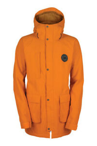 Bonfire Brigade Snowboard Jacket, Men's Medium, Traffic Orange New