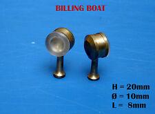 BillingBoat - (x2) Projecteurs en laiton L=8mm. Ø=10mm - Artésania Latina/Mantua