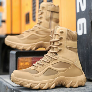 MENS HIKING BOOTS WALKING ANKLE WIDE FIT TRAIL TREKKING TRAINERS SHOES SIZE NEW