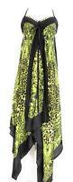 Ladies V Neck Halter Handkerchief Hem Embellished Animal Print Dress NWT S-M-L X