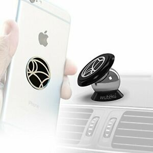 Best Car Phone Holder 100% Universal Magnetic Dashboard Mount Kit by Wuteku |