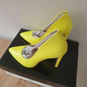 Miss KG Kurt Geiger Women's Lime/Yellow High Heels Shoes Size 3/36 RRP £99