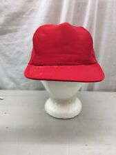 Trucker Hat Baseball Cap Vintage Snapback Plain Red Mesh Medium/large Retro