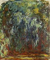 Claude Monet Weeping Willow Giverny Poster Reproduction Giclee Canvas Print